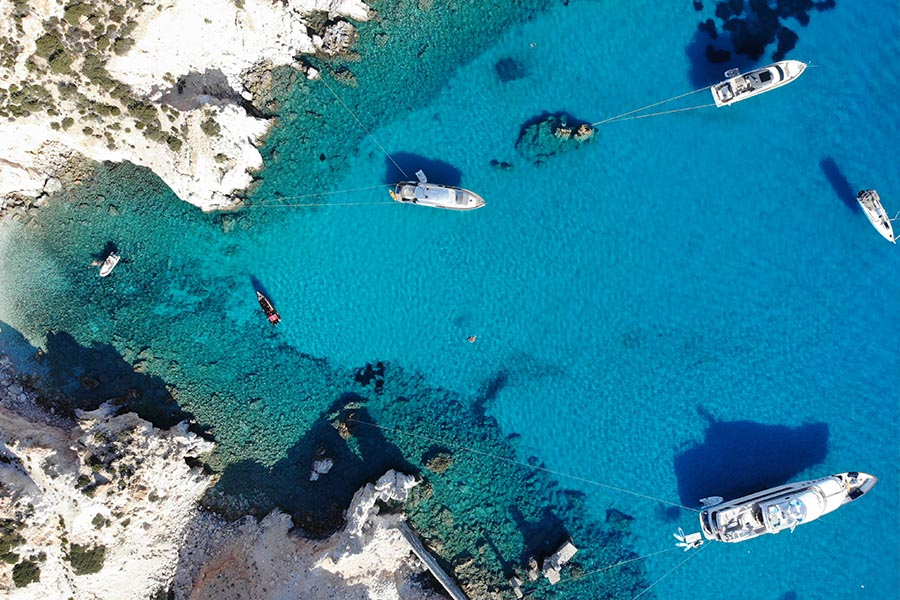 Salty Rides boat tours Poliegos blue bay